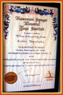 Certificate Iyengar Yoga Teacher Robin Popinski